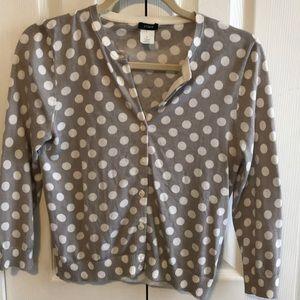 J. Crew polka dot cardigan cotton small sweater s